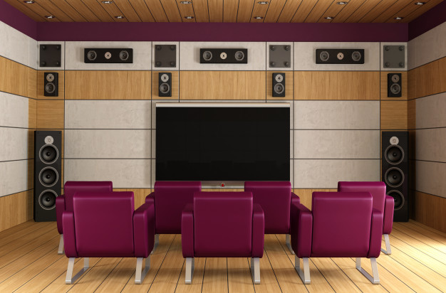 Home theatre installation with professional wiring and cover up | Home AVI